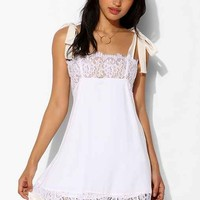For Love & Lemons Bo Peep Trapeze Dress- Ivory L