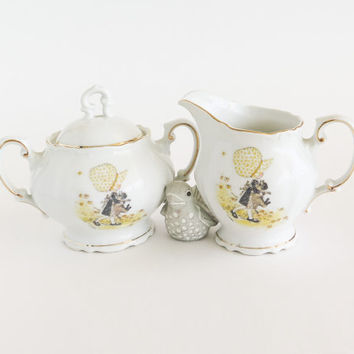 Holly Hobbie Porcelain Cream and Sugar Set
