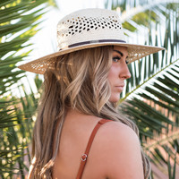 Saltwater Babe Band Straw Hat (Natural)