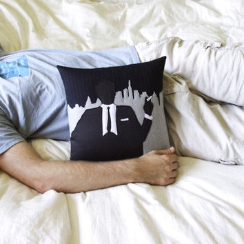 Mod Ad Man Pillow by regansbrain on Etsy