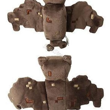 """Licensed cool NEW Minecraft Overworld 7"""" Bat 11"""" Wing Span Plush Doll Bean Bag Toy Licensed"""