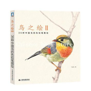 Chinese Colored Pencil Drawing 36 Animal Chinese Birds Painting Art Book Language Chinese line drawing sketch book