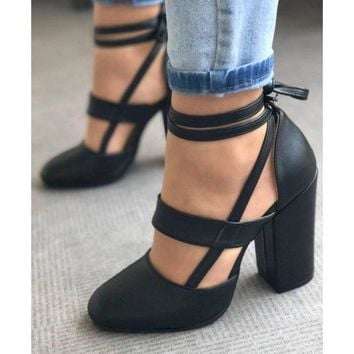 plus size 35-42 female women shoes woman pumps high heels gladiator Zapatos Mujer ankle strap wedding sapato feminine BY17973