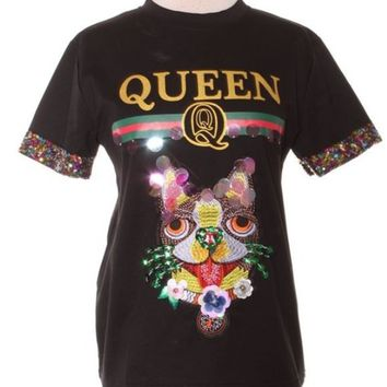 Queen Katie Sequin Tee