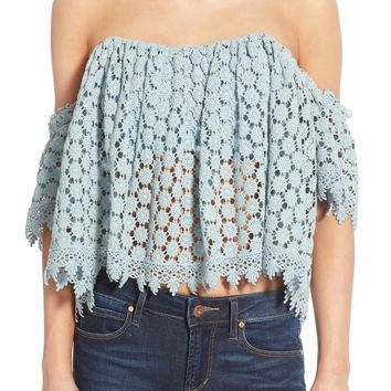 Tularosa 'Amelia' Off the Shoulder Crochet Crop Top | Nordstrom