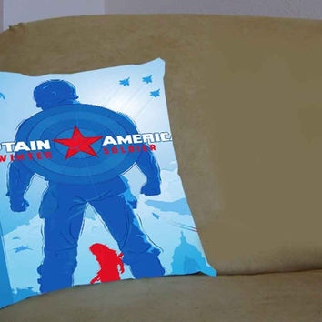 Winter Soldier Captain America ShopRuin - Pillow Case, Pillow Cover, Custom Pillow Case **