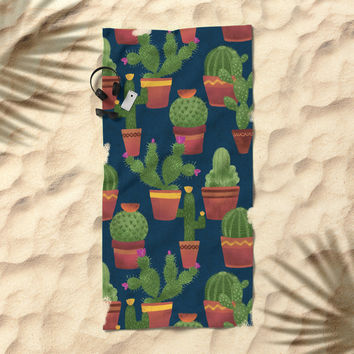 Terra Cotta Cacti Beach Towel by Noonday Design