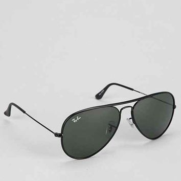 Ray-Ban Acetate Original Black Lens Aviator Sunglasses- Black One