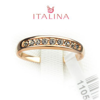 2015 New Italina brand ring Jewelry size 5.5 -10 18K rose Gold plated Women's jewelry Men and Women couple rings
