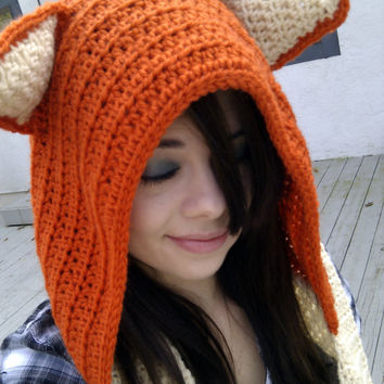 Crochet Wool Fox Scoodie Made to Order by stitchesbybrooke