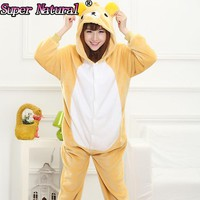 Rilakkuma Kigurumis Brown Bear Cheap DHL White Beige Brown Poleron Anime Onesuit Cosplay Costumes Sleepwear Adult Footed Pajamas