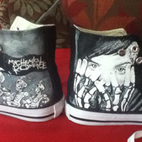 My Chemical Romance Black Parade, Three Cheers Hand Painted High Tops