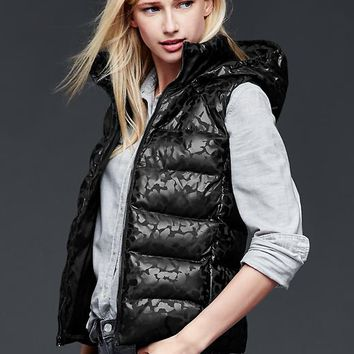 Gap Women Primaloft Foil Puffer Hooded Vest