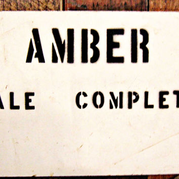 'Amber Bale Complete' Cotton Mill Sign