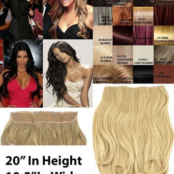 """CELEBRITY CLIP IN 10.5"""" ONE PIECE WIDE CURLY HAIR EXTENSION WEFT SET HAIRPIECE"""