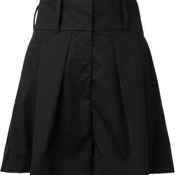High Waisted Pleated Shorts in Black
