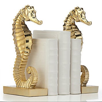 Seahorse Bookends | Gifts for Animal Lovers | Gifts | Z Gallerie