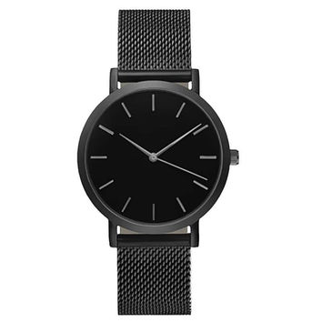 Simple Black Wrist Watch
