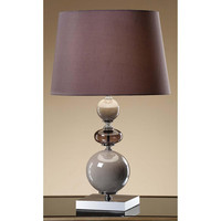 Crestview Collection Greenwich Lighting Joelle Table Lamp, Pearl/Pale Blue