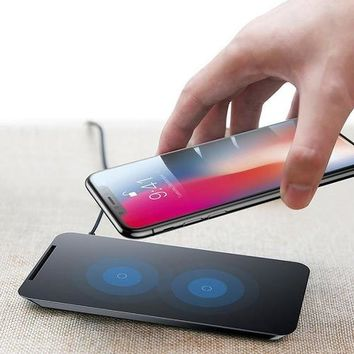 Fast Wireless Charging Bank Stand Double Coils Charge Just Wireless Fast Charging | Fast Qi Wireless Charger Pad Stand For iPhone 8, 8 Plus, iPhone X, S6, S6 Edge, Nokia 9, Nexus 5/6