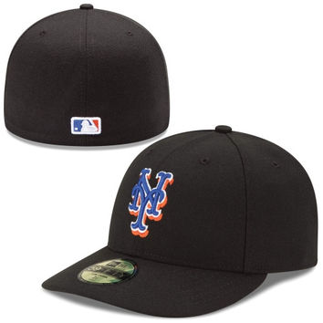New York Mets New Era Low Crown Performance 59FIFTY Fitted Hat – Black