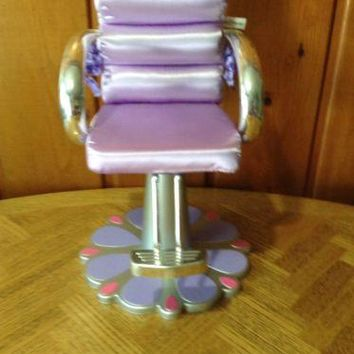 Friends Boutique purple salon beauty chair stylist toy - American Girl doll Size