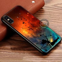 Pixie Dust Tinkerbell Quotes Nebula iPhone X 8 7 Plus 6s Cases Samsung Galaxy S8 Plus S7 edge NOTE 8 Covers #iphoneX #SamsungS8