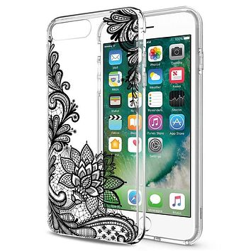 Stylish Lace Clear Case for iPhones and Samsung Galaxy
