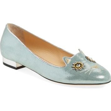 Charlotte Olympia 'Mechanical Kitty' Flat (Women) | Nordstrom