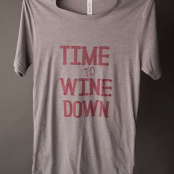 "Gina ""Time to Wine Down"" Tee"