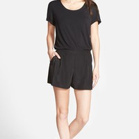 Women's Halogen Mixed Media Romper,