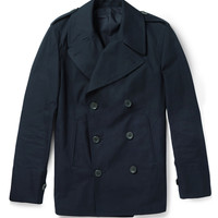 Dunhill - Double-Breasted Cotton Peacoat | MR PORTER