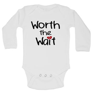 Worth The Wait Funny Kids Onesuit - B1