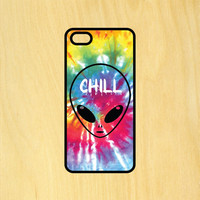 Alien Chill Tie Dye Art Phone Case iPhone 4 / 4s / 5 / 5s / 5c /6 / 6s /6+ Apple Samsung Galaxy S3 / S4 / S5 / S6