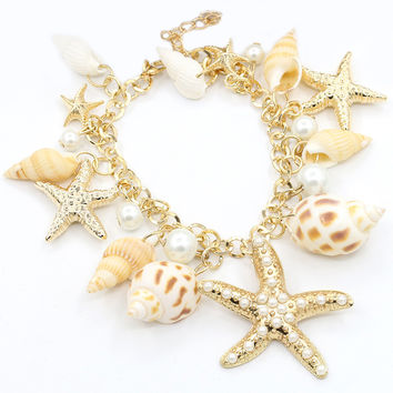 Stylish Korean Fashion Star Sea Bangle = 4806920964