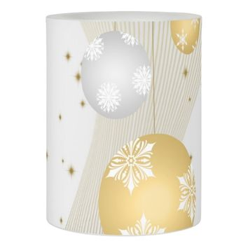 Silver and Gold Flameless Candle