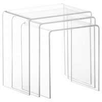 Clear Bea Nesting Tables, Set of 3, Acrylic / Lucite, Nesting Tables
