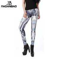 NADANBAO MECHA CosPlay Women Leggings ROBOT Comic Cartoon Printed leggins Woman legins women pant
