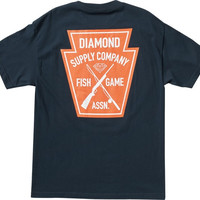 Diamond Fish & Game Crest Tee XL Navy