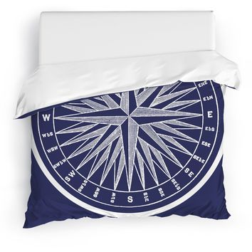 NAUTICAL COMPASS Duvet Cover By Terri Ellis