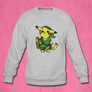 zelda pokemon sweater Sweatshirt Crewneck Men or Women Unisex Size