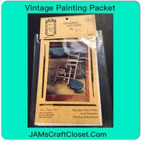 Vintage Painting Packet #1 of a Chair and Enamel Pan on Porch