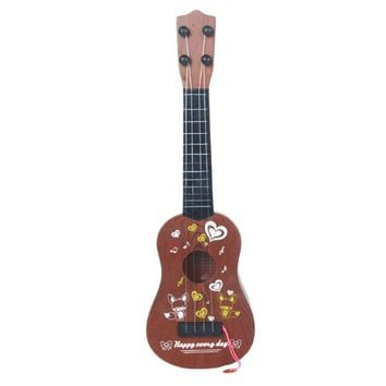 Musical Instrument Music Education Fox Brown Toy Guitar For Kids Guitar Players