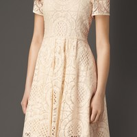 English Lace A-Line Dress | Burberry