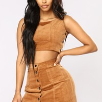 Thrills Ya Corduroy Set - Brown