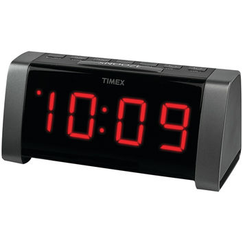 "Timex Am And Fm Dual Alarm Clock Radio With Jumbo 1.8"" Led Display & Auxiliary Input (black)"