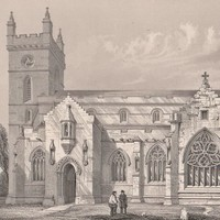 Antique Print St Michael's Church Linlithgow Church South View (A26) by Grandpa's Market