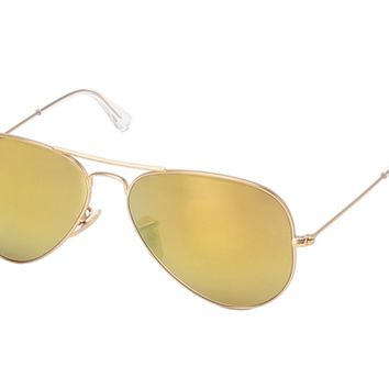 New Ray Ban Sunglasses Outdoor Fashion Aviator RB3025 112/93 MATTE Gold YELLOW