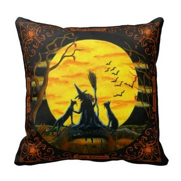 Halloween home decor pillow