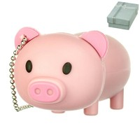 Cute Pink Farm PIG Animal keychain 8GB USB Flash Drive - in Gift box - with GadgetMe Brands TM Stylus Pen and comes in GadgetMe retail packaging